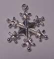 22mm Silver Snowflake Number 4 Lead and Nickel Free