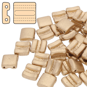 10g Horizontal Fixer Beads Crystal Bronze Pale Gold 00030 01710