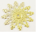 20mm Gold Coloured Filigree Snowflake