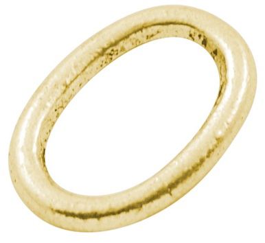 Oval Link 3G Antique Gold Colour 14mm Lead and Nickel Free Oval