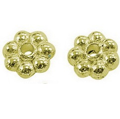 GLNF30 Antique Gold Lead and Nickel Free Daisy Spacer 100 pack