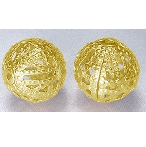 GNF08 8mm Gold Nickel Free Filigree Round 22 pack