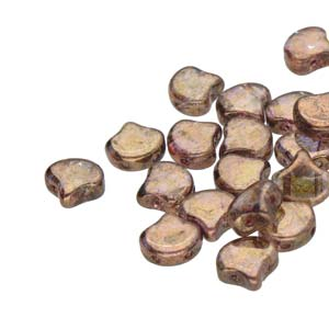 10 grams Matubo Ginko Beads Crystal Senegal Brown 00030 15695