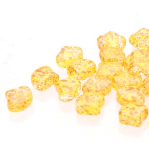 10 grams Matubo Ginko Beads Confetti Sp Orange Yell 00030 24402