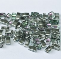 5 gram 5mm 2 hole Half Tila Beads Crystal Vitrail Light TLH4574