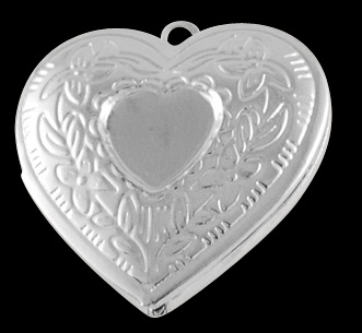 23mm Silver Colour Heart Locket Number 1 Lead and Nickel Free