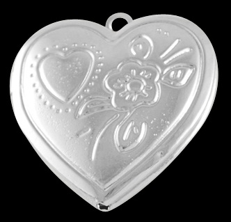 29mm Silver Colour Heart locket Number 2 Lead and Nickel Free