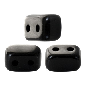10 grams Ios 2 hole beads Jet 23980