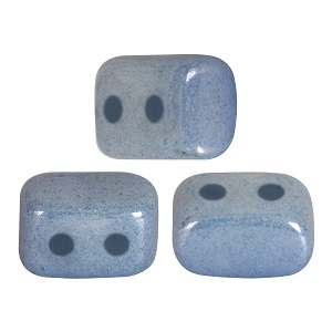10 grams Ios 2 hole beads Op Blue Ceramic Look 03000 14464