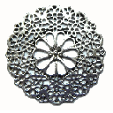 Antique Silver Lead and Nickel Free 47mm  Large Flower Disc