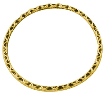 Large Circle Link Antique Gold 38mm Lead and Nickel Free Ring
