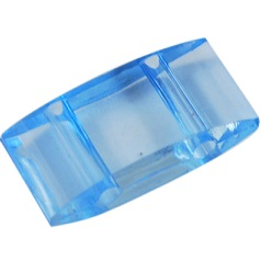 2 Hole Acrylic Spacer or Carrier Beads 25 pack light blue