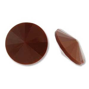 12mm Matubo Rivoli Chocolate 12041