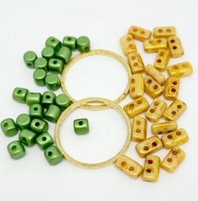 Fleur Component Pack Green and Pale Gold