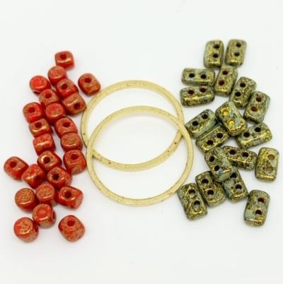Fleur Component Pack Red and Green/Gold