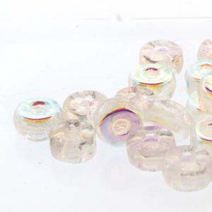 30 pack Czech glass Octo Beads Crystal AB 00030 28701