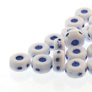 30 pack Czech glass Octo Beads Chalk Blue 03000 46430