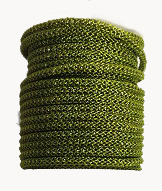 Olive wire over Gunmetal bead chain (Khaki) Price per 10 cm