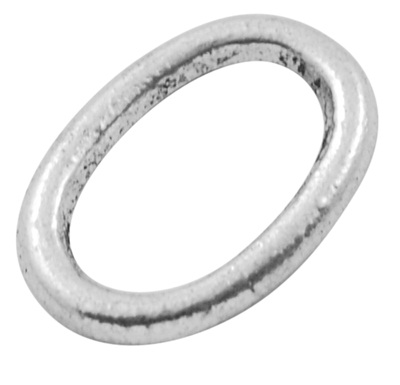 Oval Link 3 Antique Silver Colour 14mm Lead and Nickel Free Oval