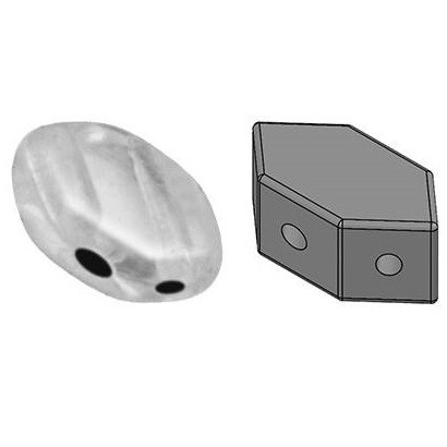 2-Hole 03000-14400 30 count 7 x 4 mm Opaque White Luster Paros par Puca Bead