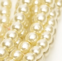 100 Pack 2mm Czech Glass Pearls Old Lace 10001