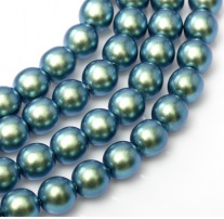 50 Pack 4mm Czech Glass Pearls Moonstone Blue 19041