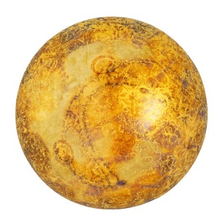 18mm Cabochon par Puca Crystal Gold Spotted 00030 65322
