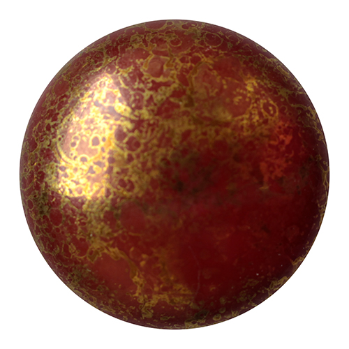 25 mm Round Cabochon par Puca Opaque Choco Bronze 13630 15496