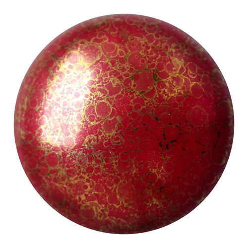 18 mm Round Cabochon par Puca Op Coral Red Bronze 93210 15496