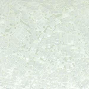 5 grams 2 hole Quarter Tila Beads Opaque White QTL402
