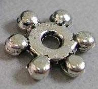 S69 8mm Antique Silver Snowflake Spacer 50 pack