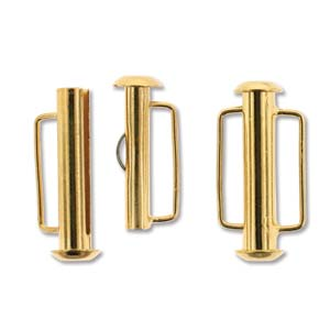 21.5 mm Gold Plated Slide Bar Clasp