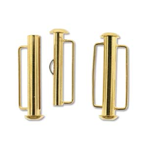 26.5 mm Gold Plated Slide Bar Clasp