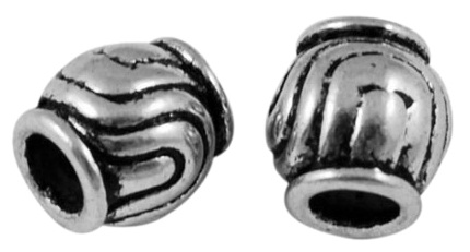 SLNF39 Antique Silver Lead and Nickel Free Bead 21 pack
