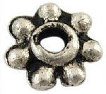 SLF70 Antique Silver Lead Free Daisy Spacer 50 pack