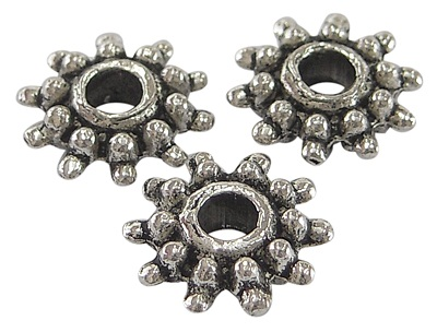 SLNF101 Antique Silver Lead and Nickel Free Snowflake 50 pack