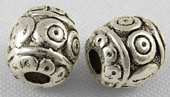 SLNF22 Antique Silver Lead and Nickel Free Bead 28 pack