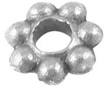 SLNF90 Antique Silver Lead and Nickel Free Daisy Spacer 100 pack