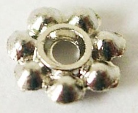 SLF103 4mm Antique Silver Lead Free Daisy Spacer 100 pack