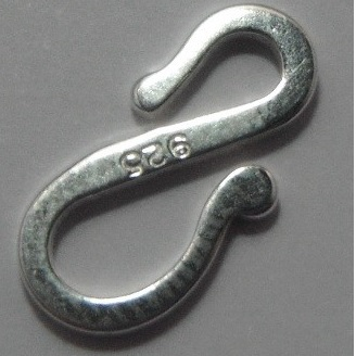 Sterling Silver Flat S Hook 2 pack
