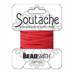 3 yards rayon Soutache Poinsetta ST1180