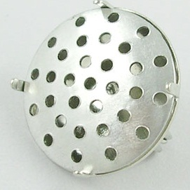 18mm Aluminium Sieve with Brooch Fitting 2 Pack