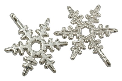 20mm Silver Snowflake Number 3 Lead and Nickel Free