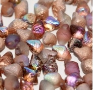 25 pack Spiky Button Beads Crys Etch Copper Rainbow 00030 98583