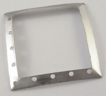 Square Link 2 Antique Silver Colour 42.5mm square shape