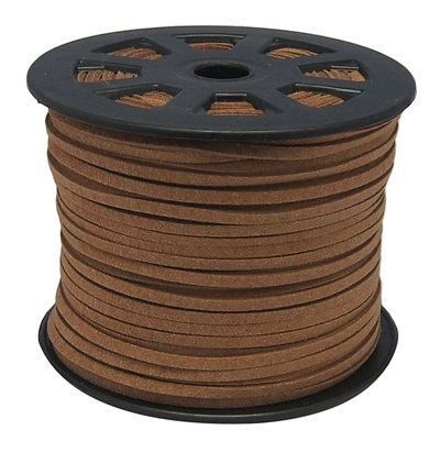3 mm diameter Faux Suede Cord in coffee. Price per metre