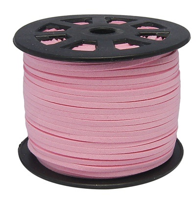3 mm diameter Faux Suede Cord in pink. Price per metre
