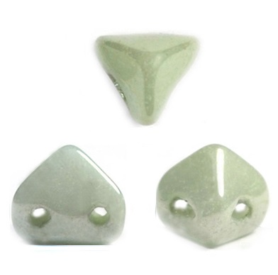 10 grams 2 hole Super Kheops Opaque Lt Green Ceramic 03000 14457