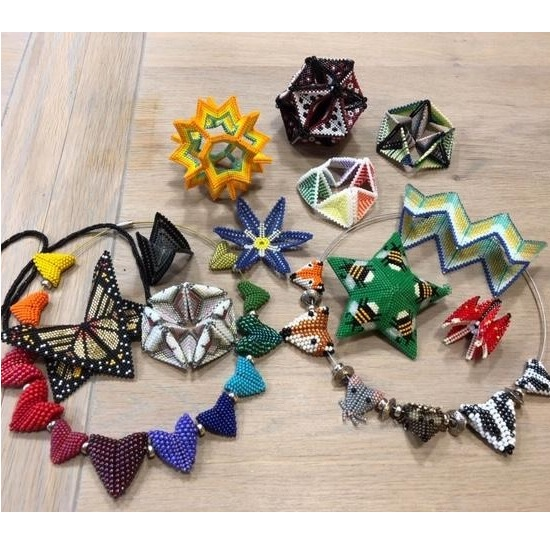 Mon, 10th Feb 10 am-12.30 pm Geometric Beadwork with Susanna