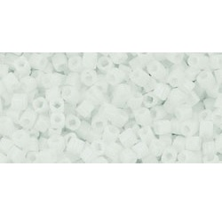 10 grams TOHO 1.5 mm Cubes Opaque White TC-01-41